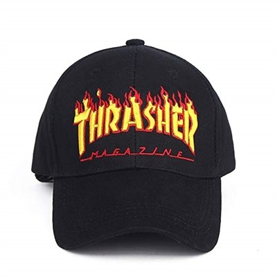 Thrasher кепка FLAME OLD TIMER HAT BLACK