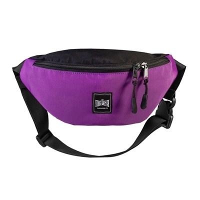 """Поясная сумка """"Тайна"""" Colorblock фиолетовый-черный таслон"""