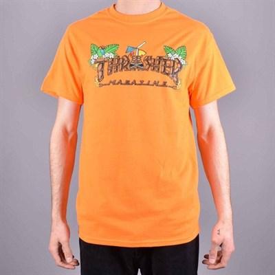 Thrasher футболка TIKI S/S SAFETY ORANGE