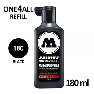 Molotow Заправка ONE4ALL Акриловая 692180 (180) черный 180 мл