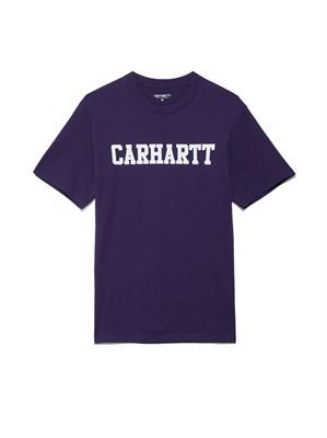 Carhartt Футболка S/S College T-Shirt ROYAL VIOLET / WHITE