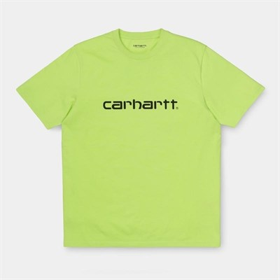 Carhartt WIP Футболка S/S Script T-Shirt LIME / BLACK.