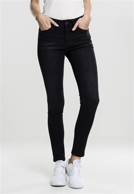 Джинсы URBAN CLASSICS Ladies Skinny Denim Pants Black Washed