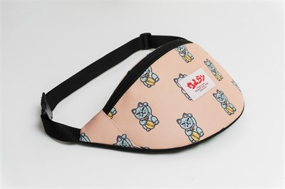 Oldy поясная сумка chineese cat biege