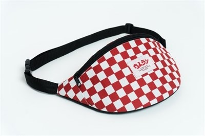 Oldy поясная сумка checkers red/white