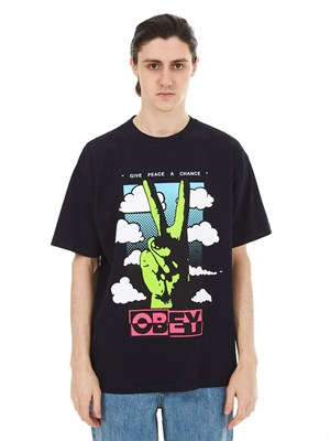 Футболка кор. рукав OBEY OFF BLACK 166912190
