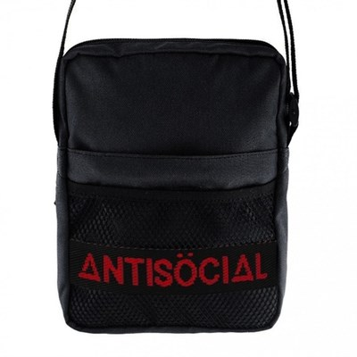 Сумка Anti Social Messenger Bag Black-Red
