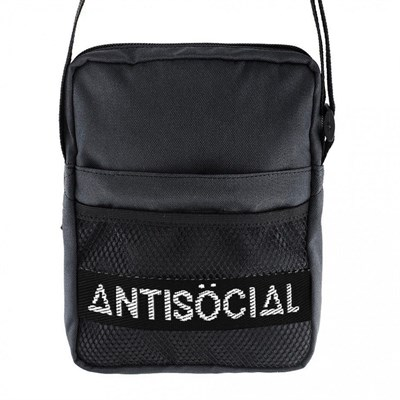 Сумка Anti Social Messenger Bag Black-White