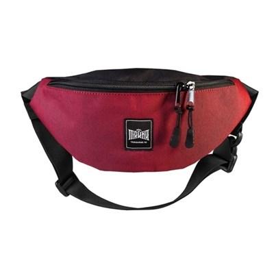 Поясная сумка BLOCK темнокрасный-черный таслан