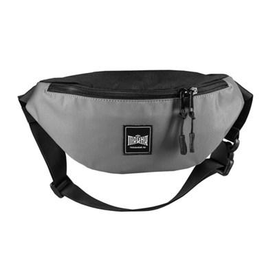 Поясная сумка BLOCK серый-черный таслан