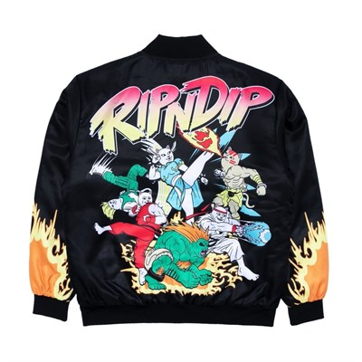 RIPNDIP Бомбер Nerm Fighter Jacket Black
