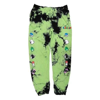 RIPNDIP Штаны Nermio Sweat Pants Green Acid Wash