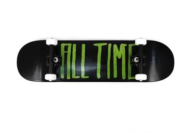 Скейтборд в сборе ALL TIME 2 tone GREEN 8.25 X 31.875
