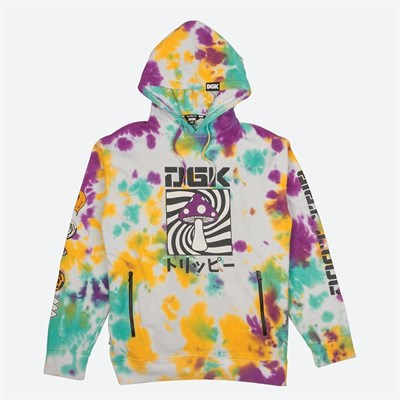 DGK Толстовка PSYCHEDELIC HOODED FLEECE TIE DYE