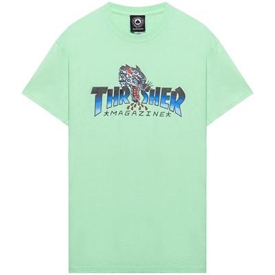 Thrasher футболка LEOPARD MAG