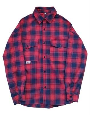 """Рубашка """"БИЧ""""  красно-синяя"""