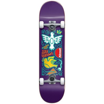 Скейт в сборе Almost Skateistan Sky Doodle FP  Purple 7.875