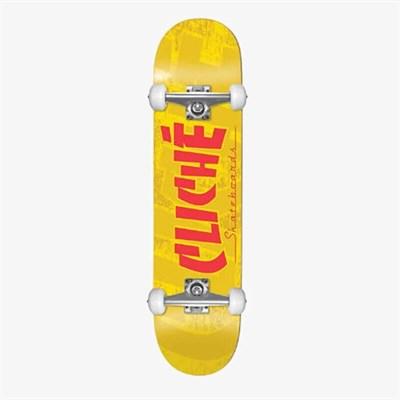 Скейт в сборе Cliche Banco FP  Yellow 7.5