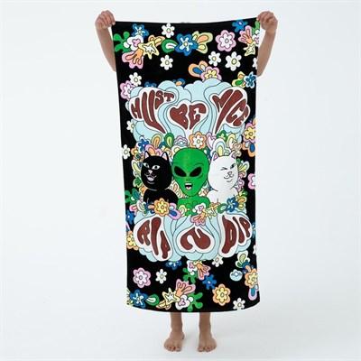 Полотенце RIPNDIP Flower Child Beach Towel Black