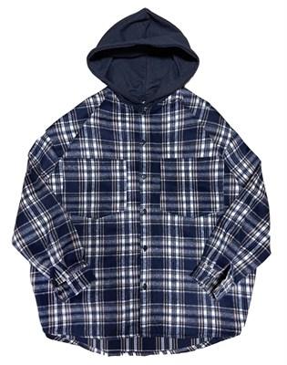 """Рубашка """"SoWhat?"""" синий oversize"""