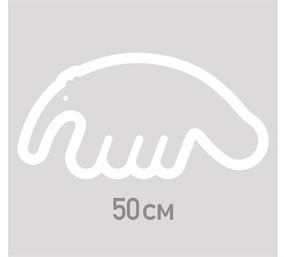 Наклейка ANTEATER Sticker-Big-Logo-White