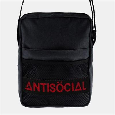 Cумка ANTISOCIAL MESSENGER BAG (BLACK-RED)