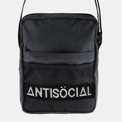 Cумка ANTISOCIAL MESSENGER BAG (BLACK-WHITE)