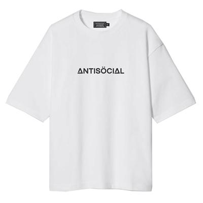 Футболка ANTISOCIAL oversize basic белый