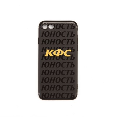 Юность Чехол для iPhone «КФС х Юность» (Черный, Силикон, 6/6S Plus) (арт. YCC0396.002.2340)