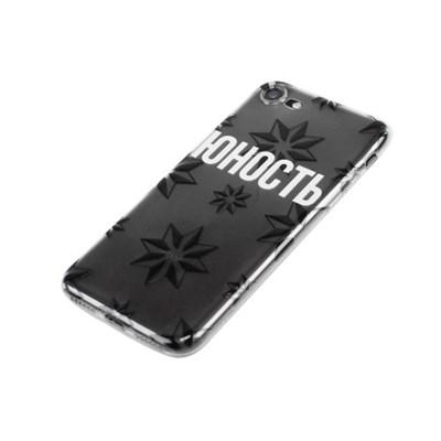 Чехол ЮНОСТЬ «Роза ветров» - Лого Юность / Силикон прозрачный 6+