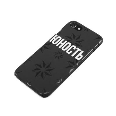 Чехол ЮНОСТЬ «Роза ветров» - Лого Юность / Силикон 6+ черный